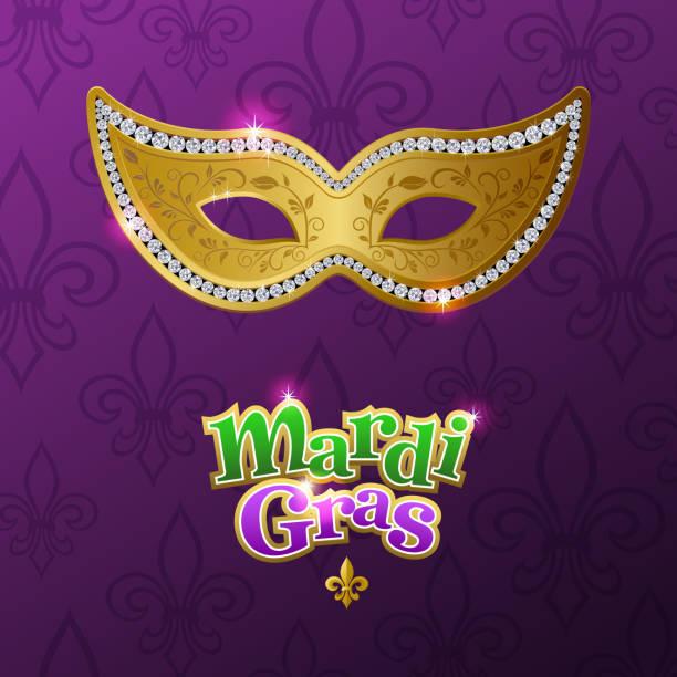 karneval maske für mardi gras - modeschmuck stock-grafiken, -clipart, -cartoons und -symbole