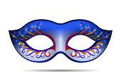 Carnival mask for masquerade costume.
