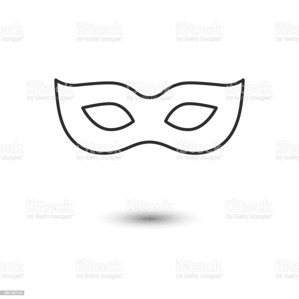 carnival mask, masquerade. icon. vector illustration. royalty-free carnival mask masquerade icon vector illustration stock illustration - download image now