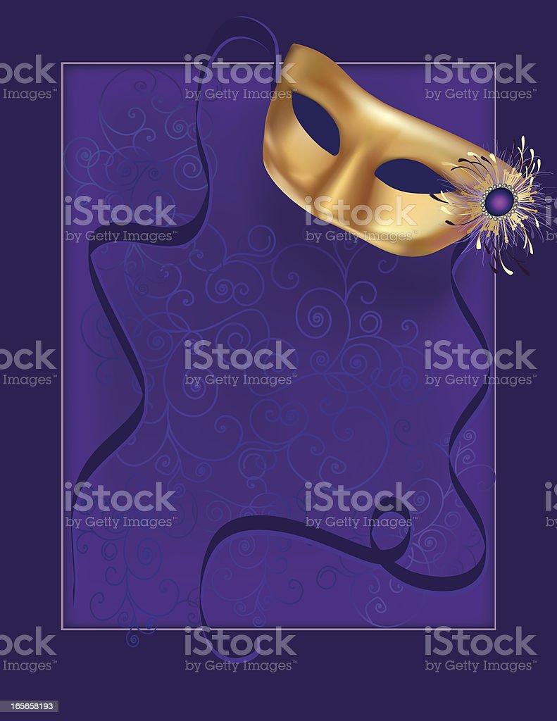 Carnival Mask on Purple royalty-free stock vector art