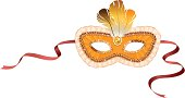Illustration of a beautiful carnival mask isolated on white background.