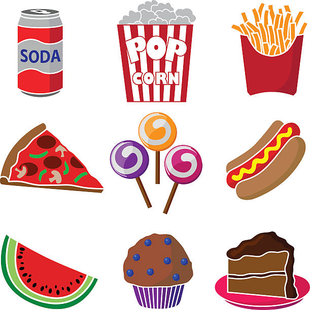 carnival or festival junk food vector art illustration