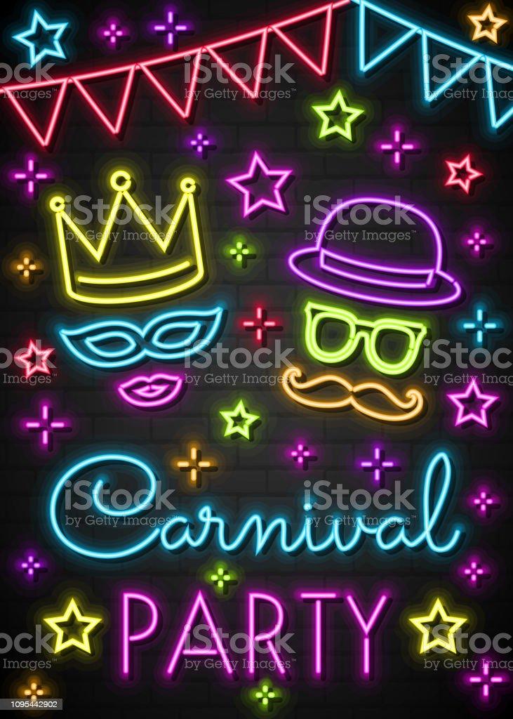 Ilustración De Fiesta De Carnaval Tarjeta De La Invitación