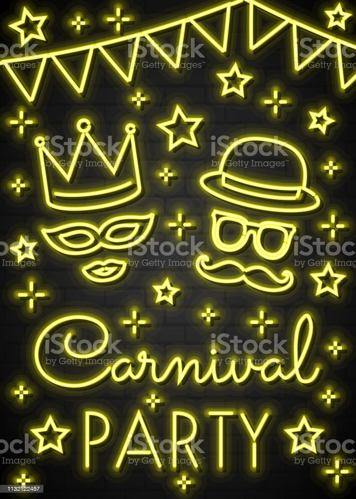 Ilustración De Fiesta De Carnavalconcepto De Una Tarjeta De