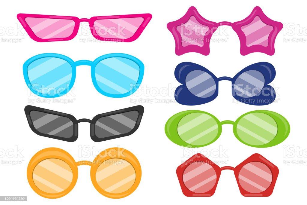 Brille Brille Sonnenbrille Auf Weißem Hintergrund
