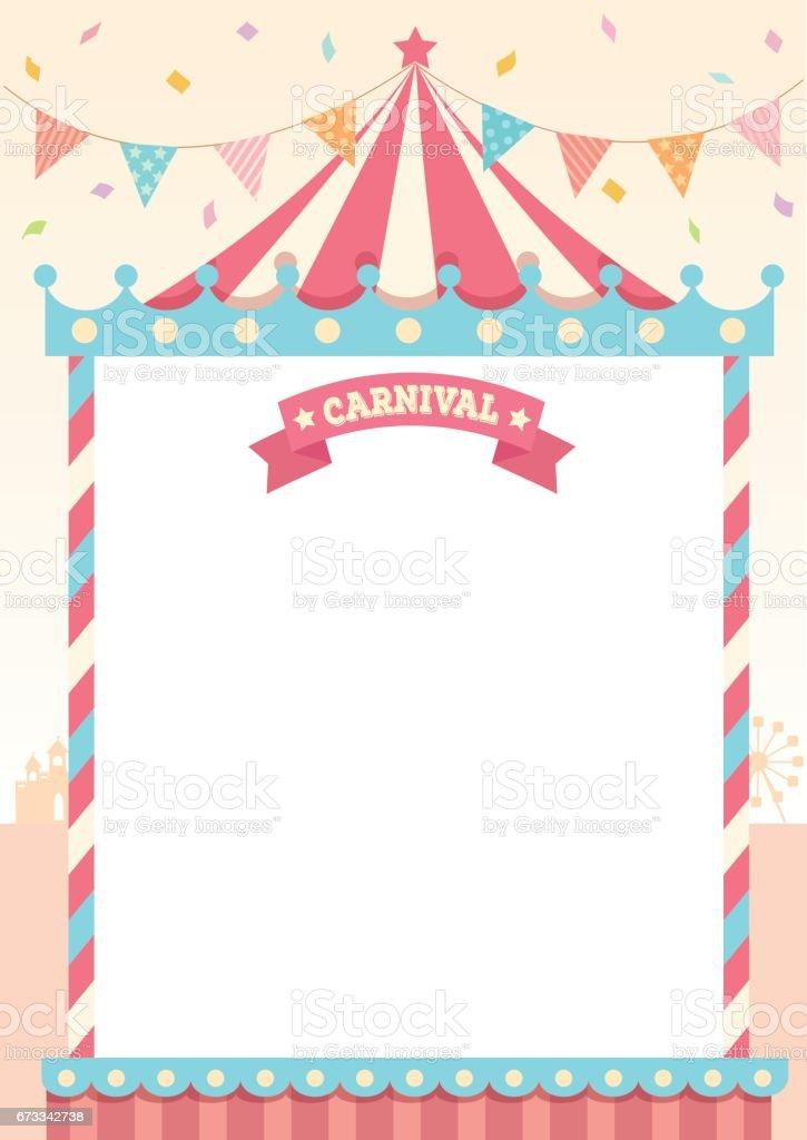 carnival pastel template stock vector art more images of amusement park 673342738 istock. Black Bedroom Furniture Sets. Home Design Ideas