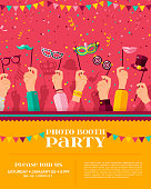 Carnival photo booth party poster