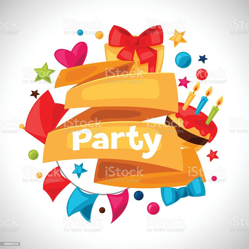 Carnival show and party greeting card with celebration objects carnival show and party greeting card with celebration objects royalty free carnival show and party kristyandbryce Images