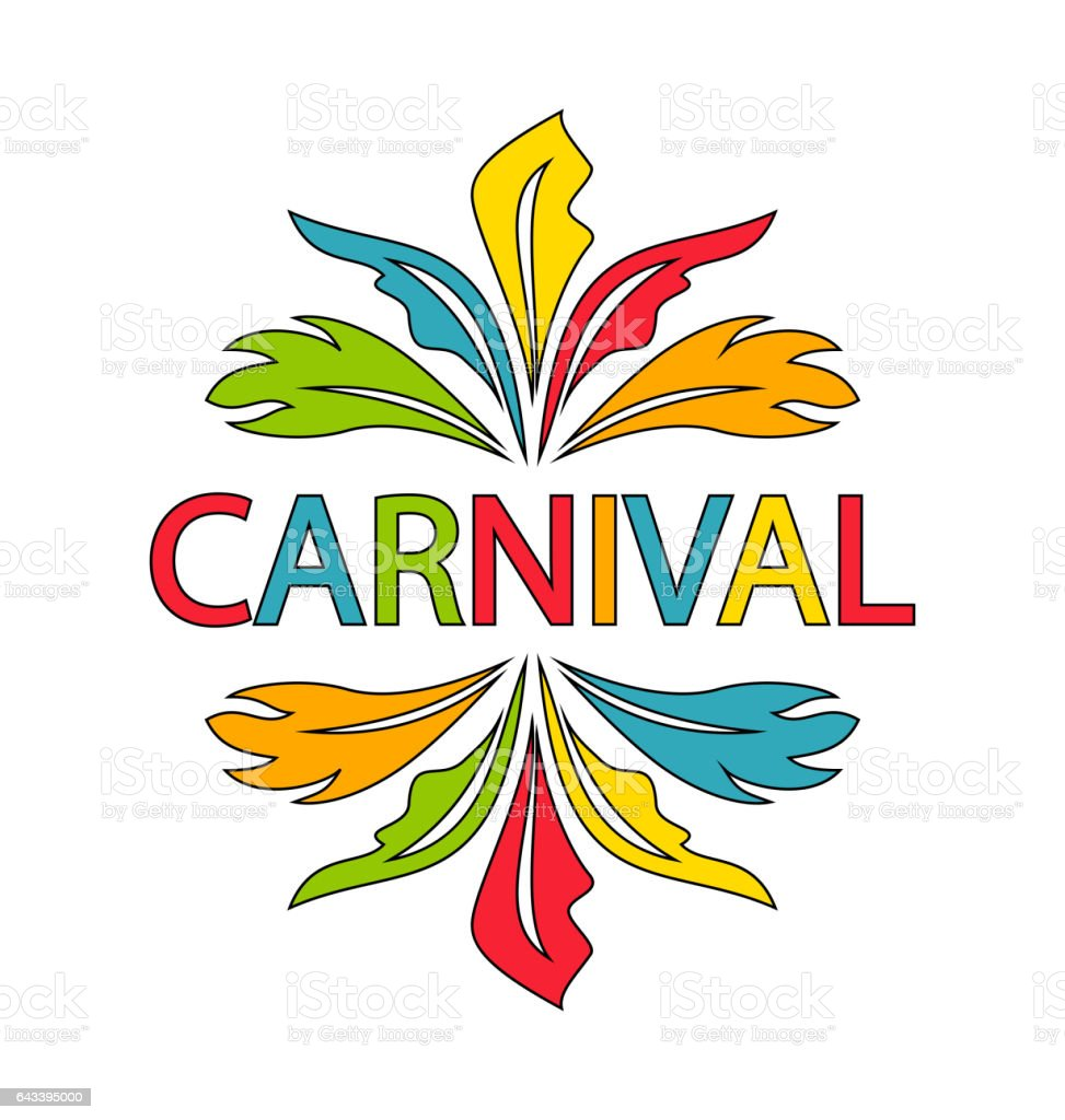 Carnival Template With Colorful Feathers Stock Vector Art More