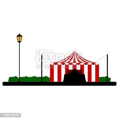 Carnival ten on a park landscape - Vector