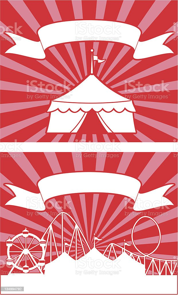 Carnival Tent Signs royalty-free stock vector art