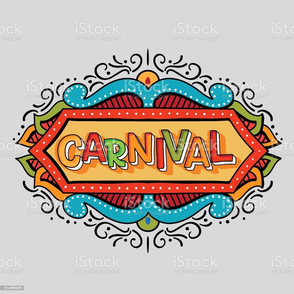 Carnaval - ilustração de arte em vetor