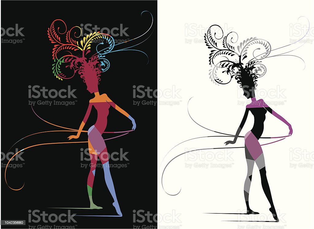 Carnival Woman Fantasy royalty-free stock vector art