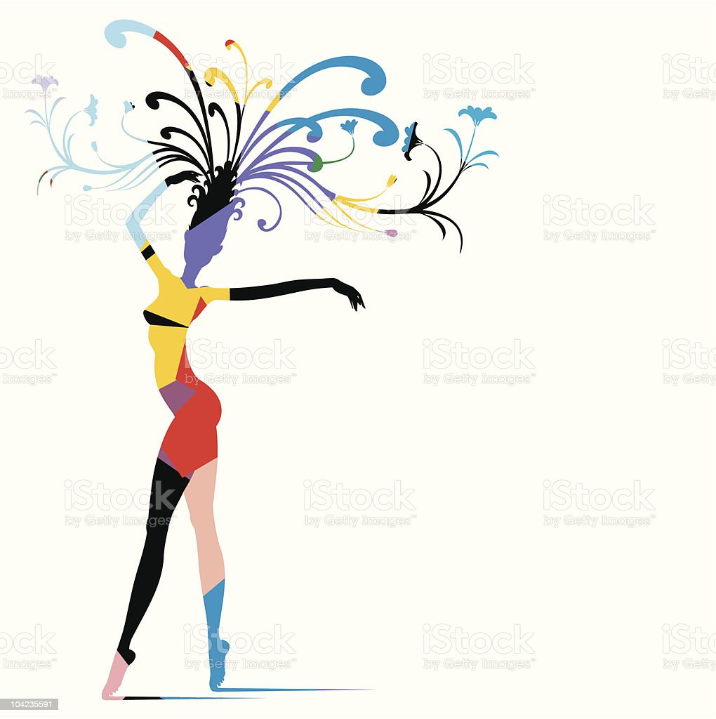 Carnival Woman royalty-free stock vector art