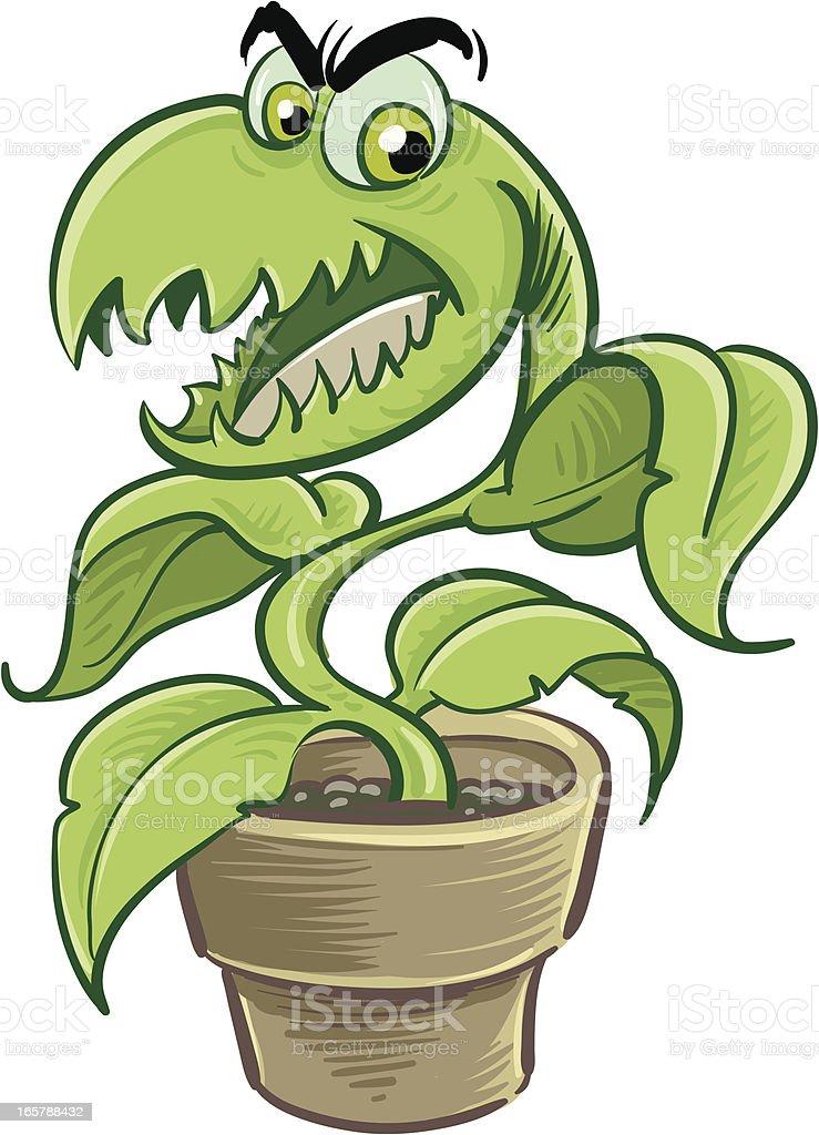 Carnivorous vector art illustration