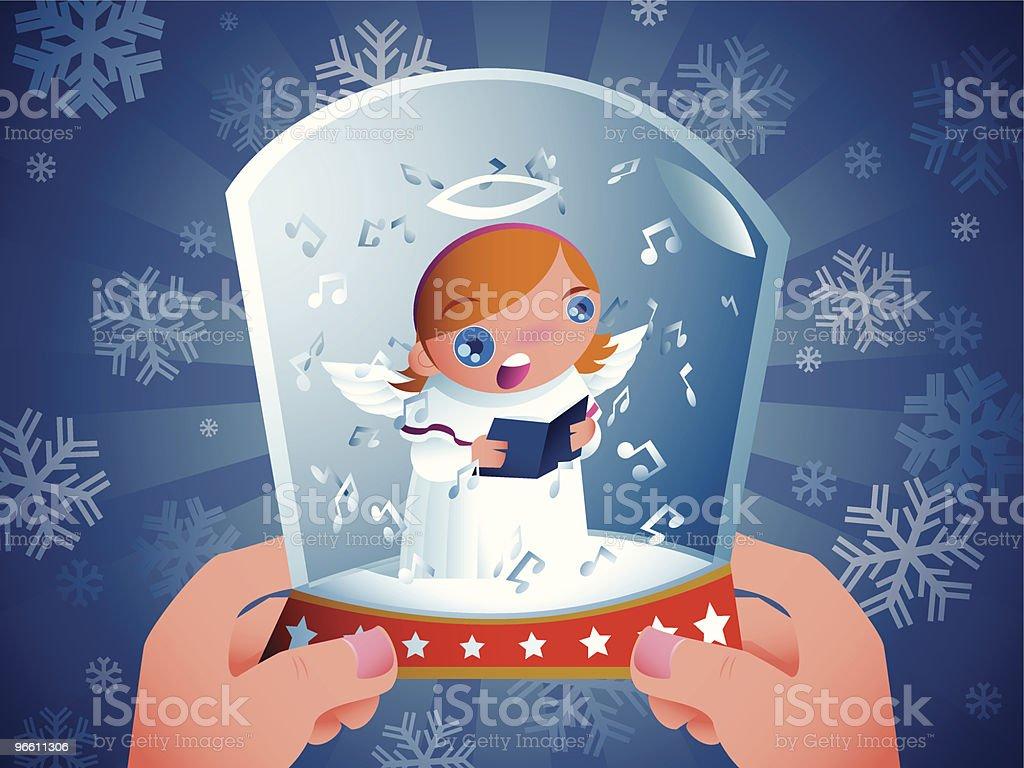 carol in the glass - Royalty-free Alleen kinderen vectorkunst