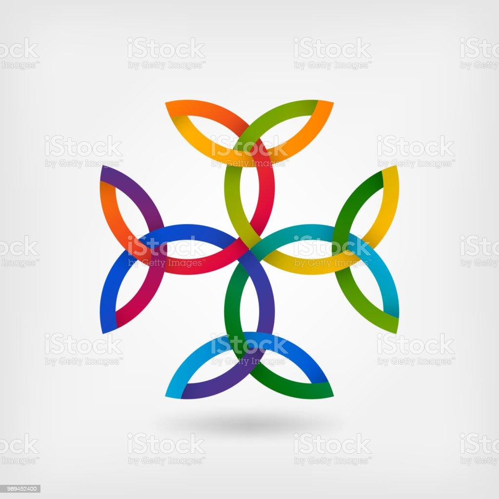 Carolingian Cross Trinity Knots Celtic Symbol Stock Vector Art