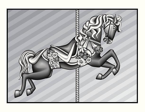 Carousel Horse vector art illustration