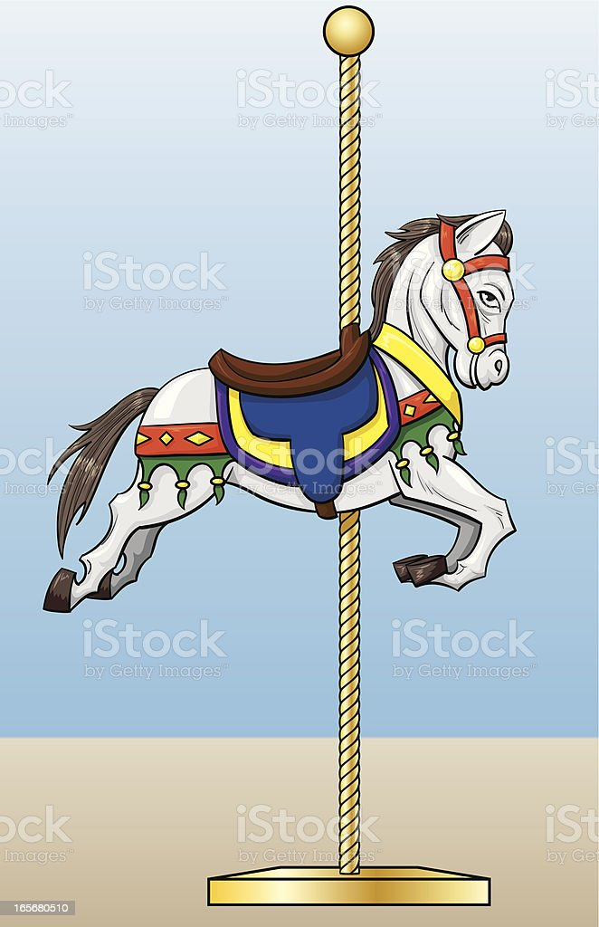 carousel horse royalty-free stock vector art
