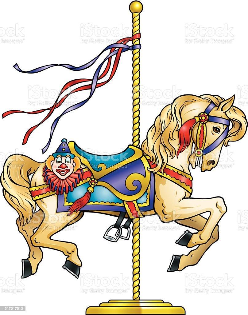 carousel horse stock vector art   more images of amusement amusement park clipart free amusement park clipart black and white