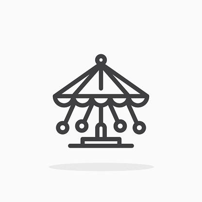Carousel icon in line style.