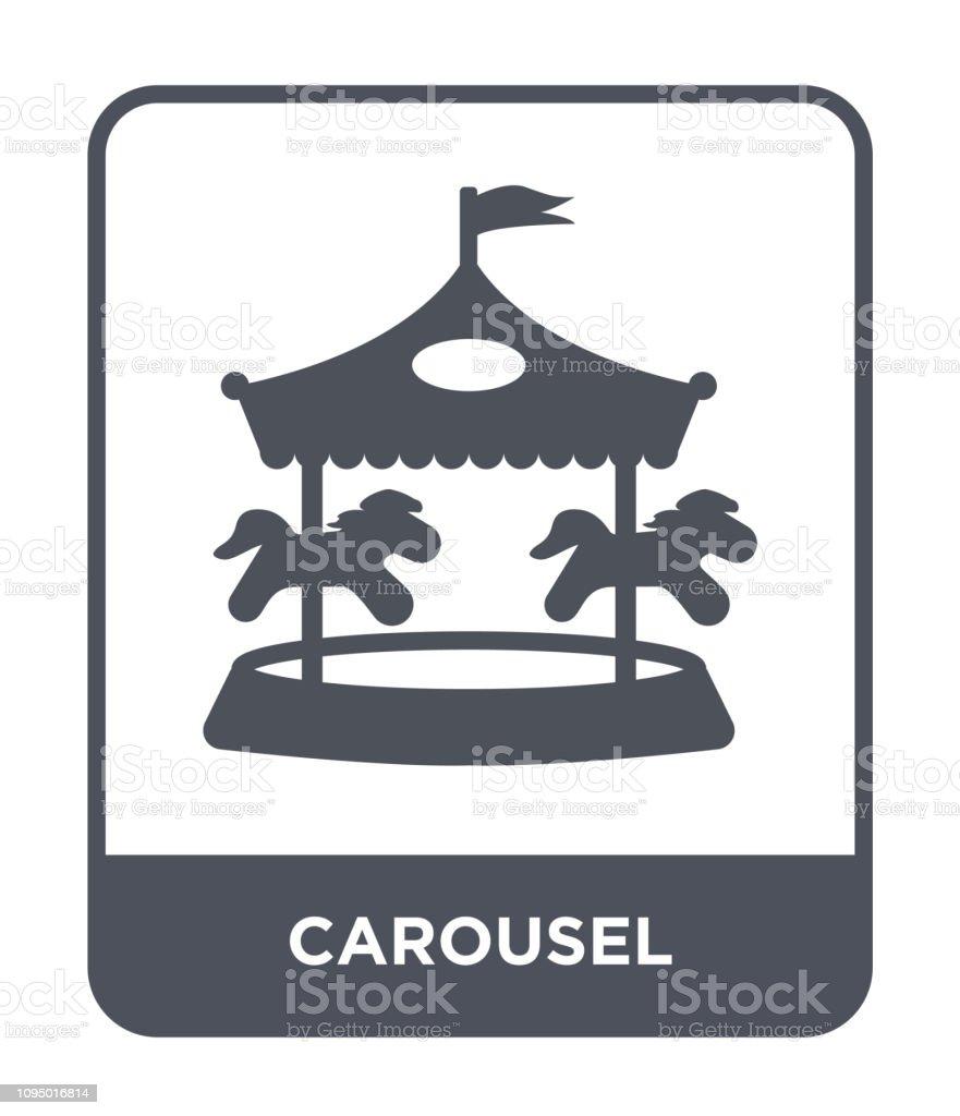 vector icono de carrusel sobre fondo blanco, moda carrusel lleno de iconos de colección circo - ilustración de arte vectorial