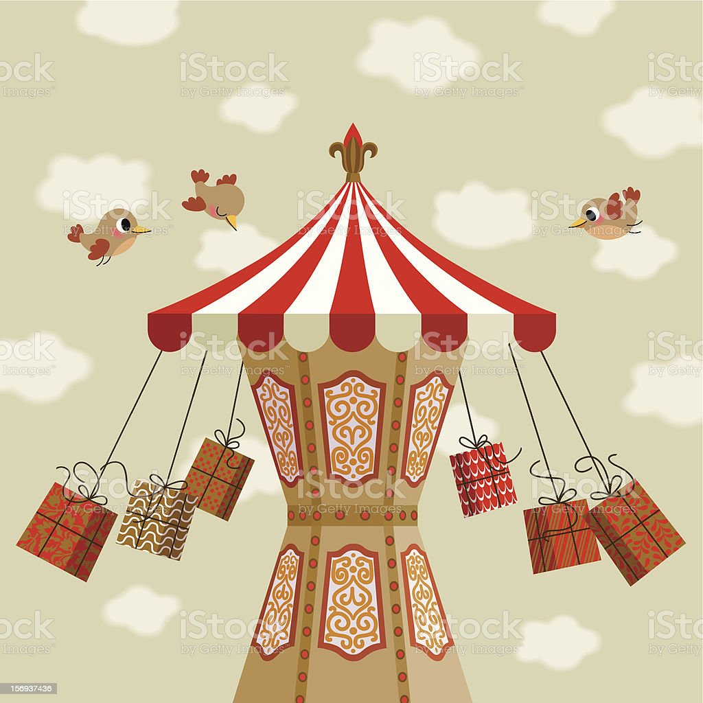 Carousel of Gifts. royalty-free stock vector art