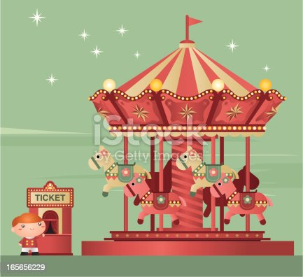 Carousel and ticket booth. Zip contains AI and PDF.
