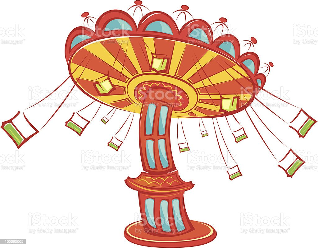 royalty free chain swing ride clip art vector images