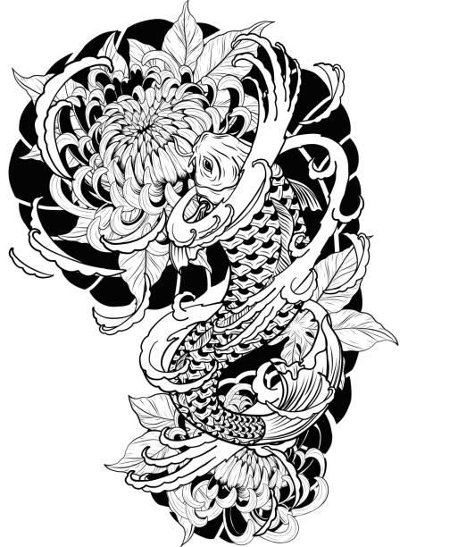Carpe Koi Dessin Vectoriels Et Illustrations Libres De