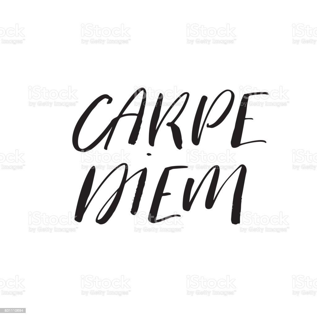 Ilustración De Carpe Diemlatina Frase Supone Capturar El Momento Y