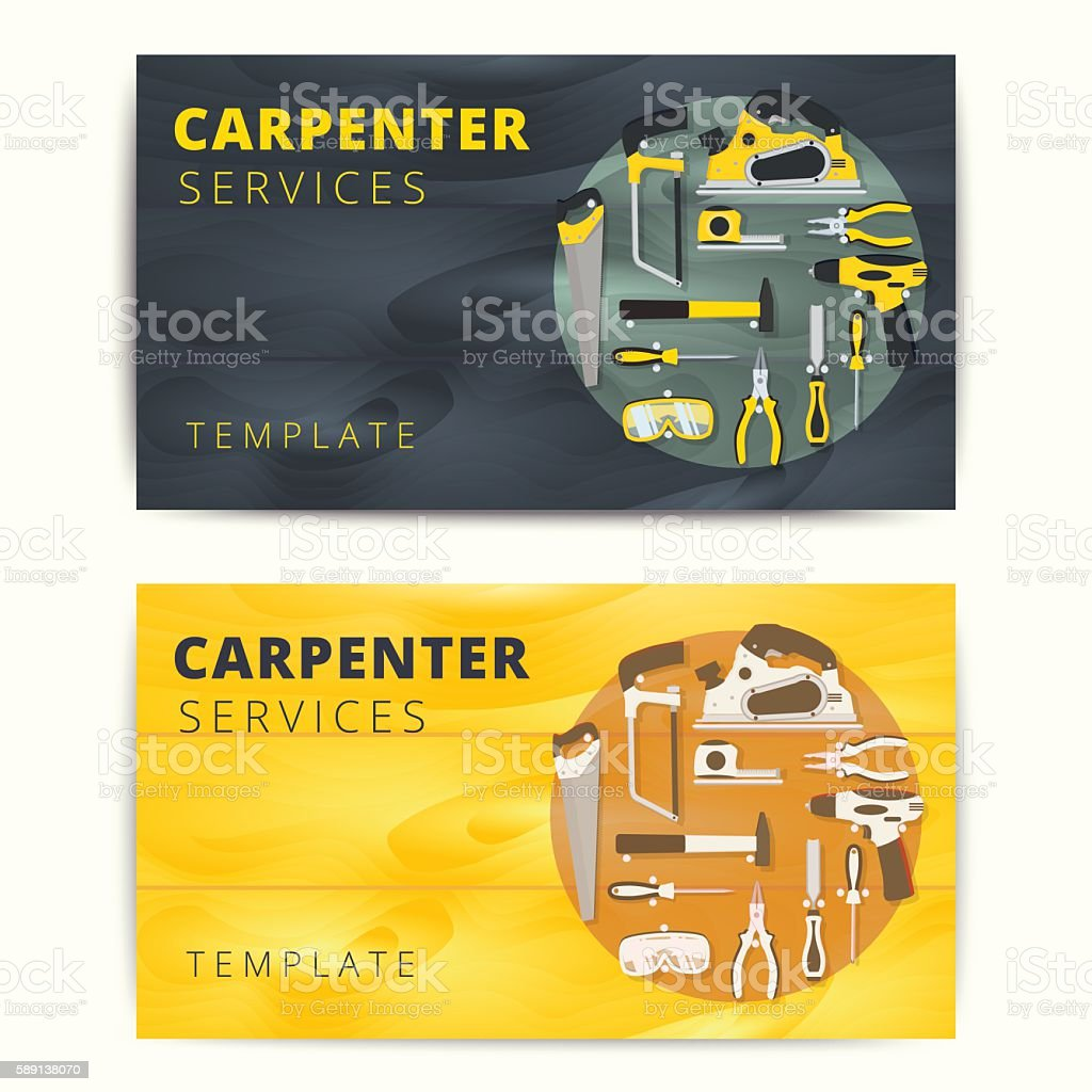 Carpenter or repairman service vector business card design stock carpenter or repairman service vector business card design royalty free carpenter or repairman service accmission Gallery