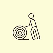 Carpet - Decor, Working, Rolled Up, Rolling, Icon