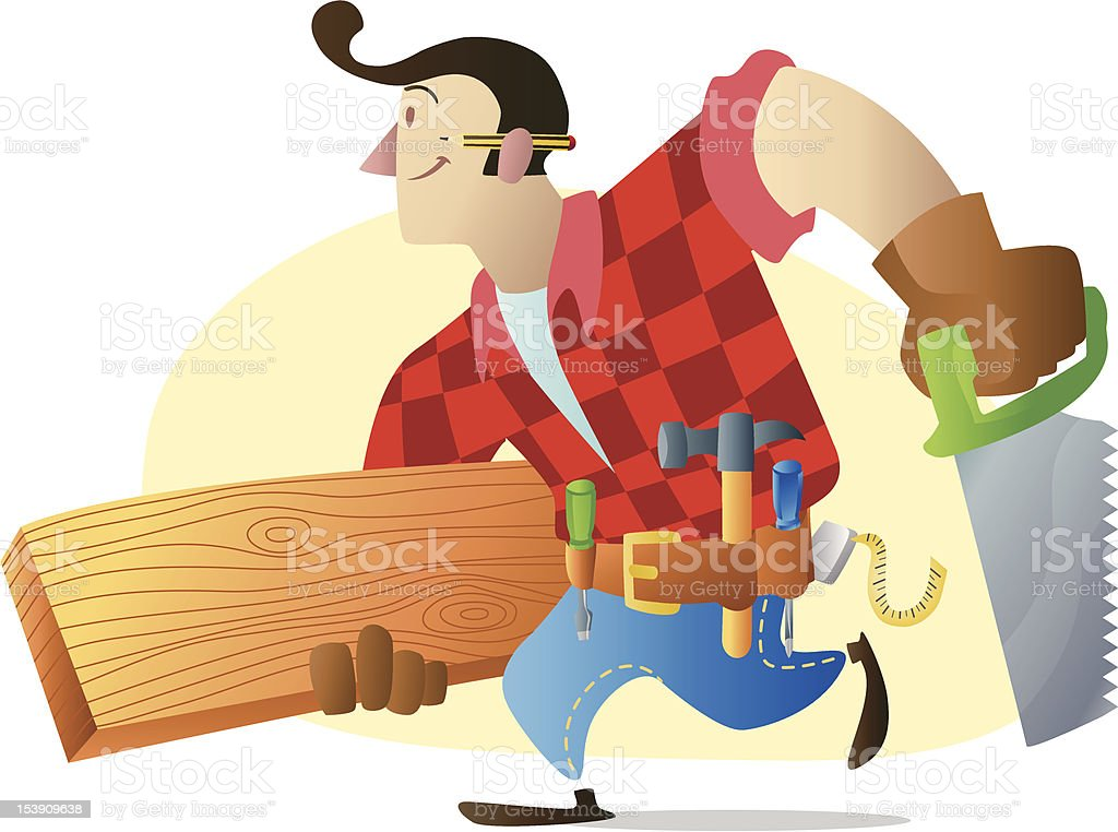 Carpenter royalty-free stock vector art