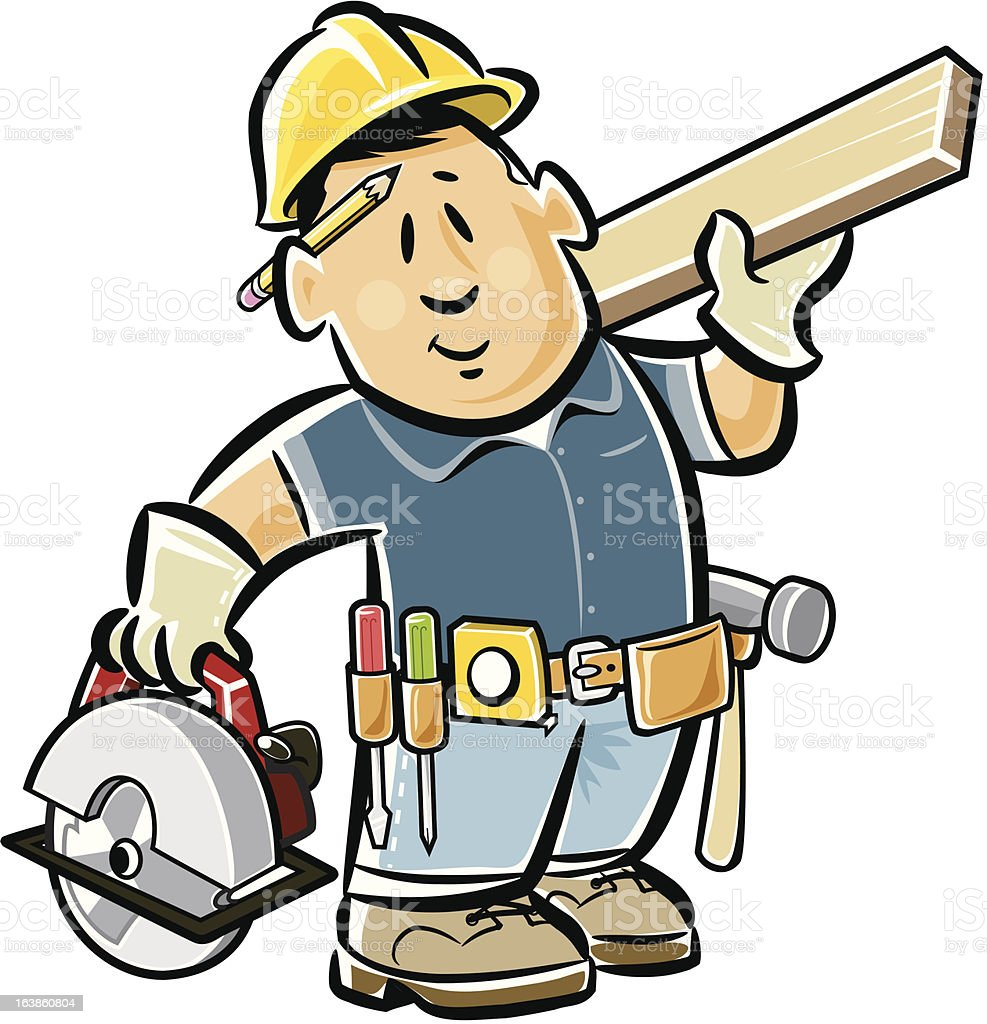 carpenter stock vector art more images of building contractor