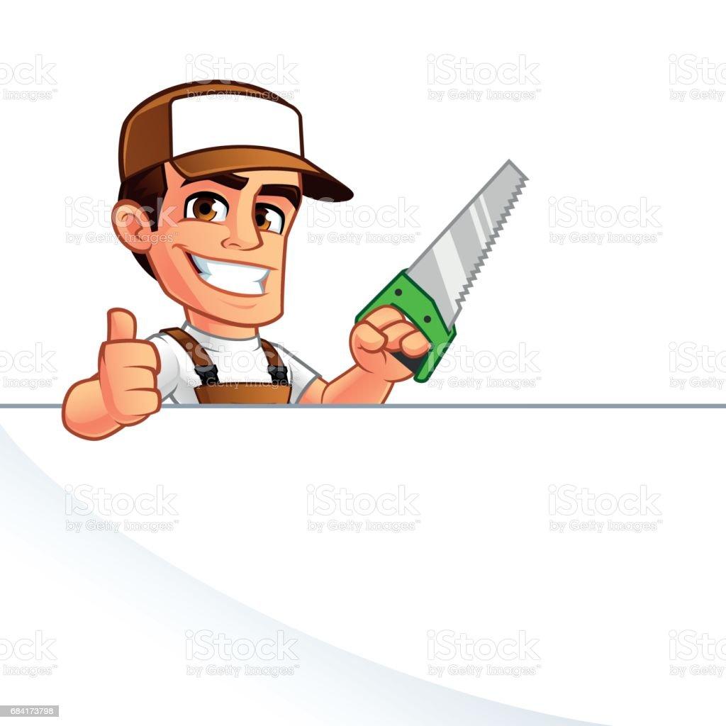 Carpenter carpenter - immagini vettoriali stock e altre immagini di adulto royalty-free