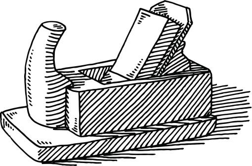 Carpenter's Wood Planer Drawing
