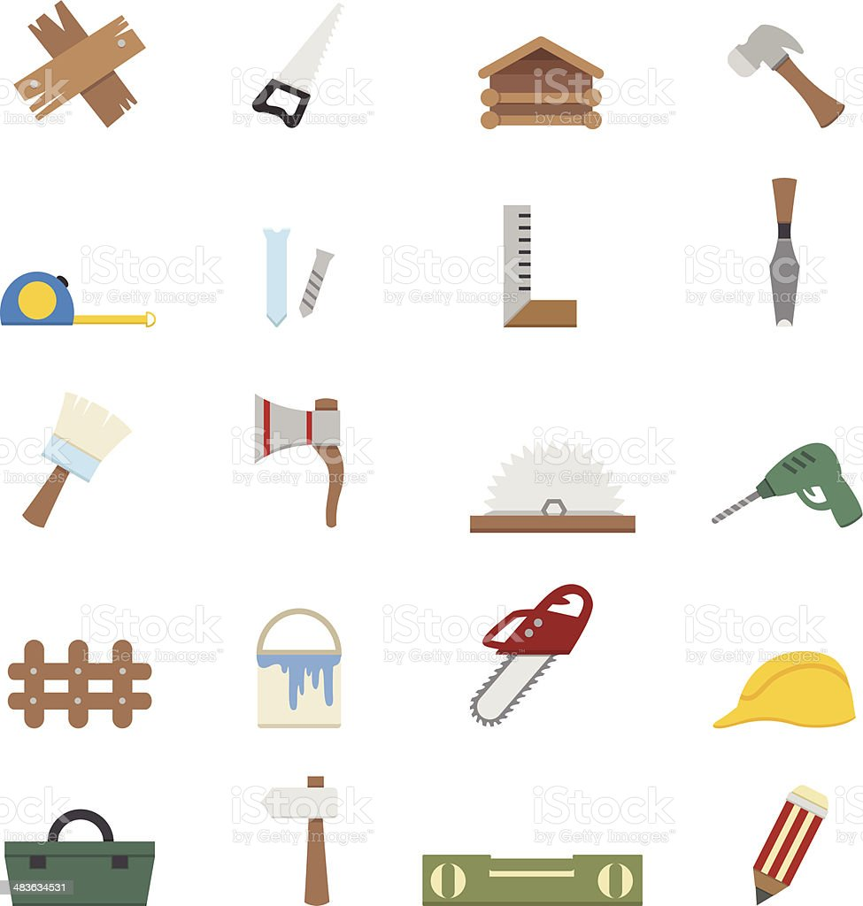 Carpentry icons royalty-free stock vector art