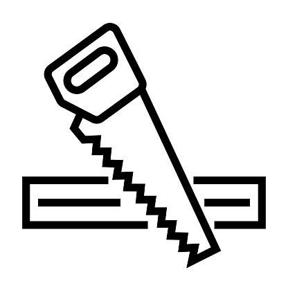 Carpentry Line Icon, Outline Symbol Vector Illustration