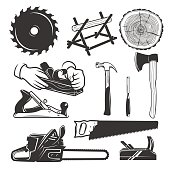 Carpentry tools. icon templates.