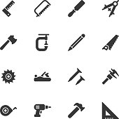Carpentry tools icons - Regular