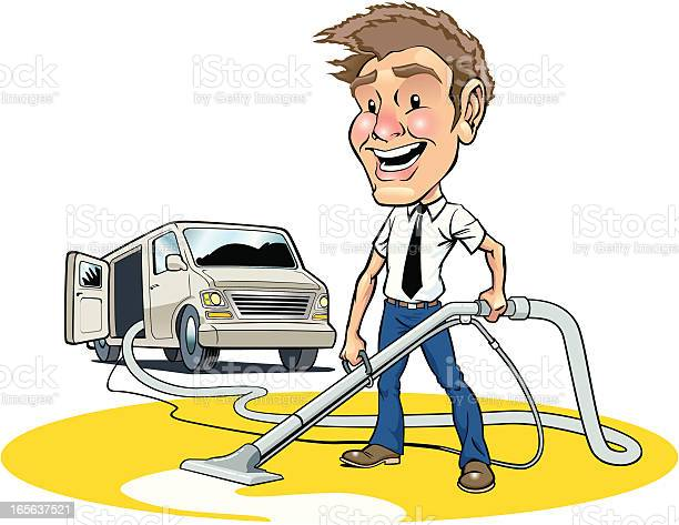 Carpet Cleaner Stock Illustration - Download Image Now