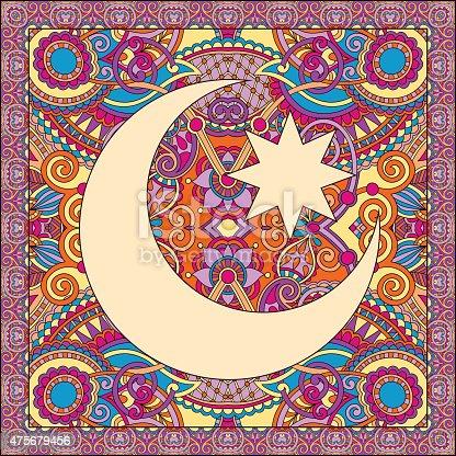 istock carpet design for holy month of muslim community festival Ramada 475679456