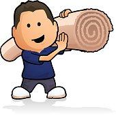 istock Carpet Fitter 481033500