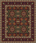 istock Carpet with abstract flowers. 922773888
