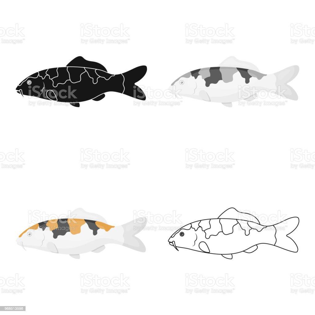 Carpkoi Fish Icon Cartoon Singe Aquarium Fish Icon From The Seaocean
