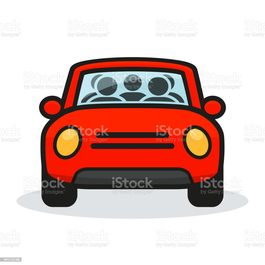 diseño de carpool en fondo blanco - ilustración de arte vectorial