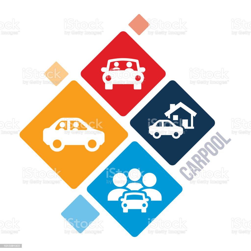 Carpool Illustration vector art illustration
