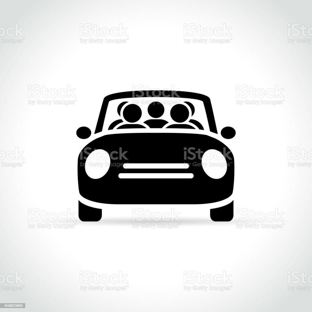 icône de covoiturage sur fond blanc - Illustration vectorielle