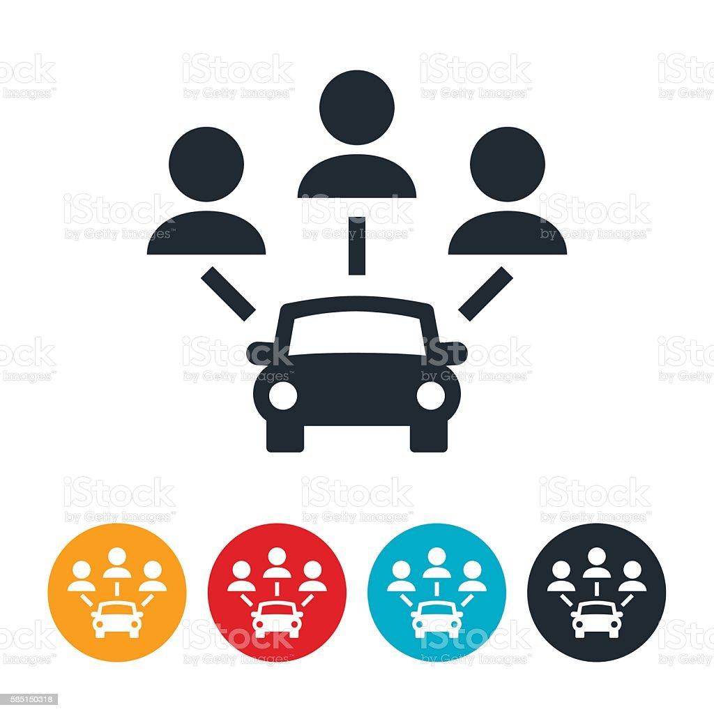Carpooling Icon - ilustración de arte vectorial